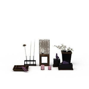 3d客厅装饰品模型