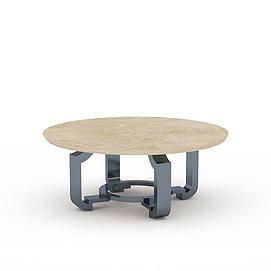 大理石圆桌3d模型
