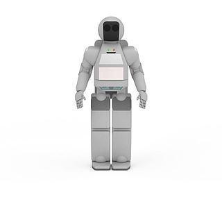 白色<font class='myIsRed'>机器人</font>3d模型