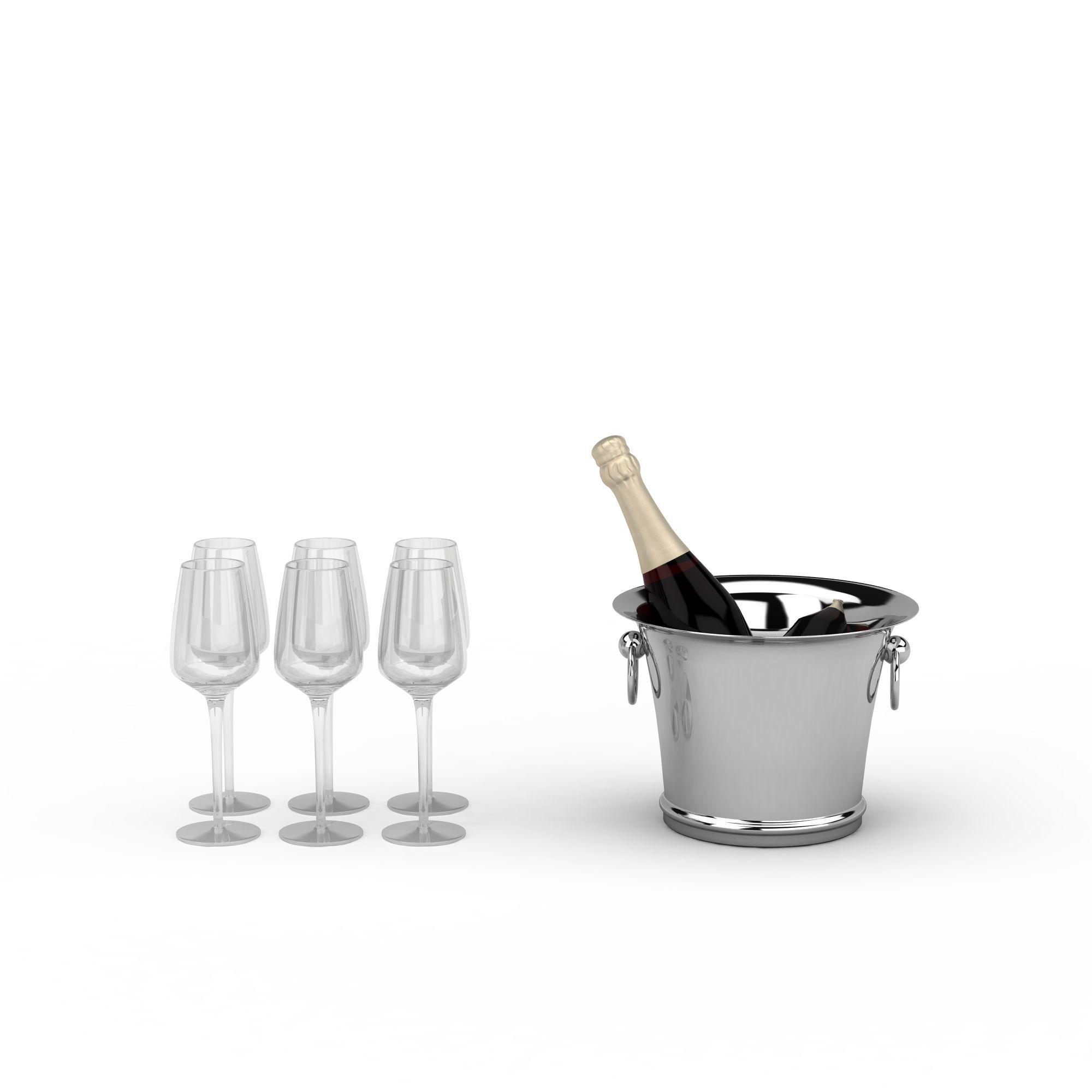 冰桶组合图片_酒杯冰桶组合png图片素材