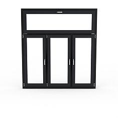 黑色玻璃窗3D模型3d模型