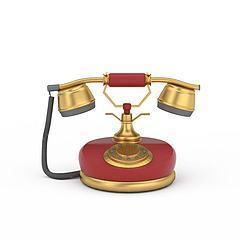 复古电话饰品模型3d模型
