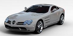 银白色奔驰汽车模型3d模型
