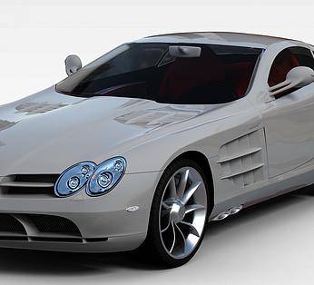 银白色奔驰汽车