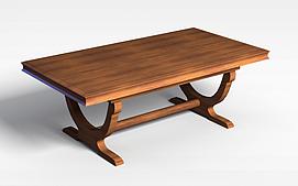 褐色四方桌子3d模型