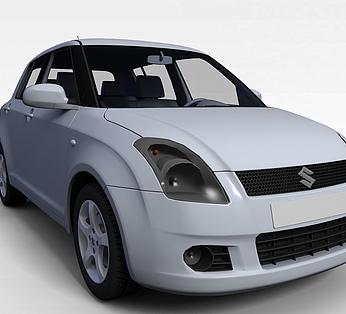 银灰色铃木汽车