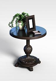 3d复古式桌子模型
