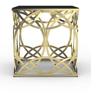 3d土豪金椅子模型