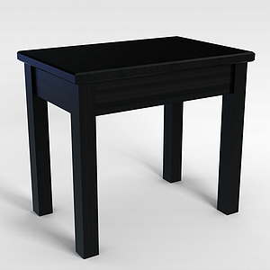 3d木质椅子模型