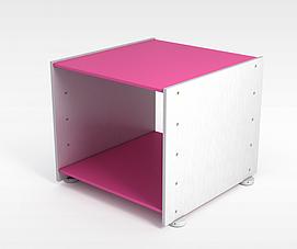 3d粉色金属<font class='myIsRed'>展柜</font>模型