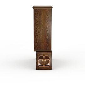 3d木制柜子模型