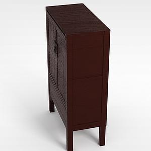 3d复古柜子模型