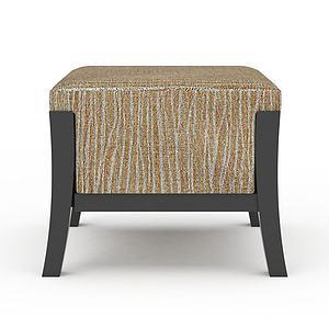 3d沙发凳模型