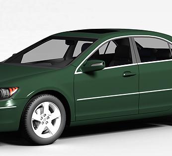 绿色讴歌RL汽车