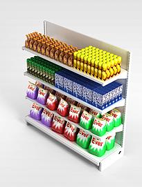 3d超市<font class='myIsRed'>展柜</font>模型