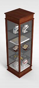 3d珠寶展柜模型