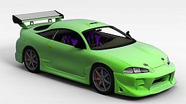 荧光绿ECLIPSE3d模型