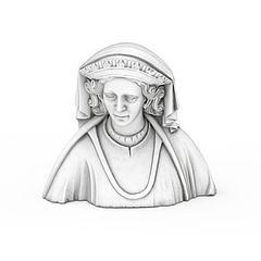 皇后石膏像模型3d模型