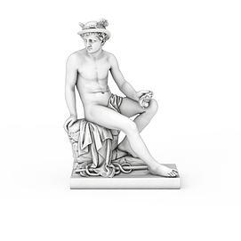 罗马主神雕像3d模型