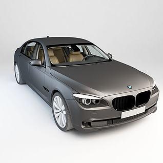 银灰色BMW7L3d模型