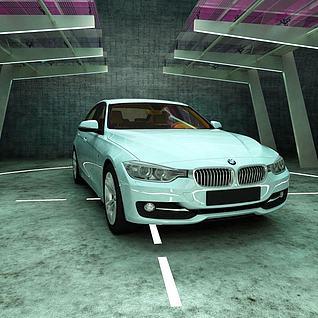 BMW3F30汽车3d模型