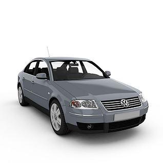 大众帕斯特汽车3d模型
