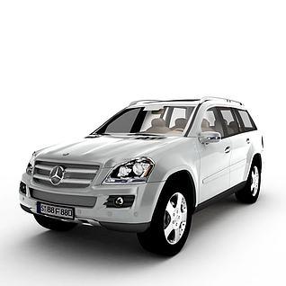 白色奔驰汽车3d模型