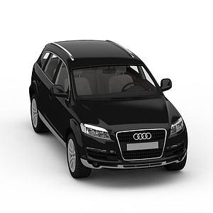 3d大型SUV汽車奧迪Q7模型