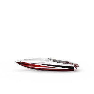 小型快艇3d模型