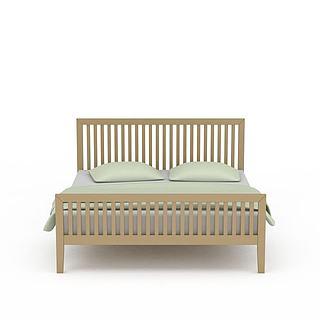镂空木质床3d模型
