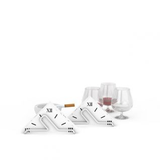 烟灰缸酒杯组合3d模型