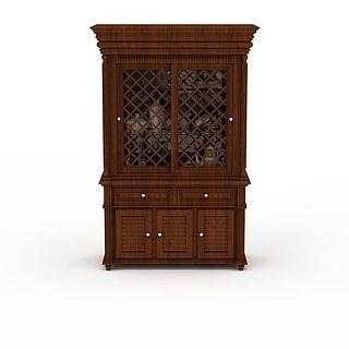 镂空木柜3d模型