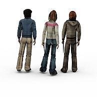 男女组合3D模型3d模型