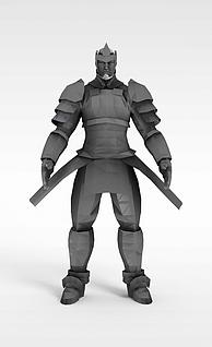 古代战士3d模型
