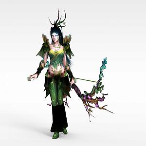 3d樹精模型