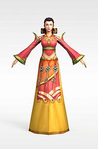 3d神話人物模型