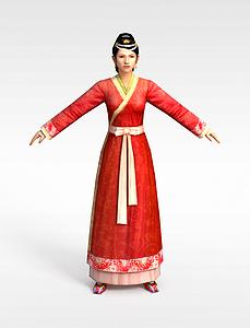 3d古裝女性模型