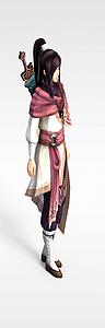 3d游戲角色劍客模型