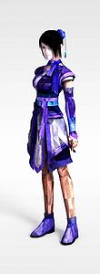 3d游戲人物角色模型