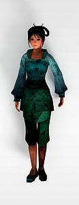 3d游戲角色人物模型