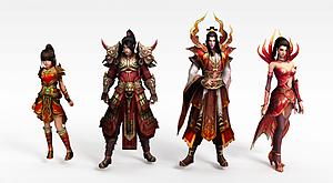 3d神話人物組合模型