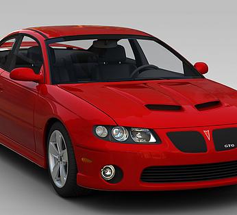 高档红色汽车