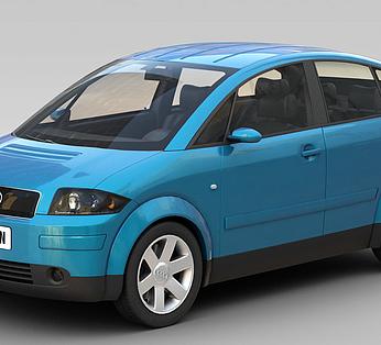 蓝色奥迪汽车