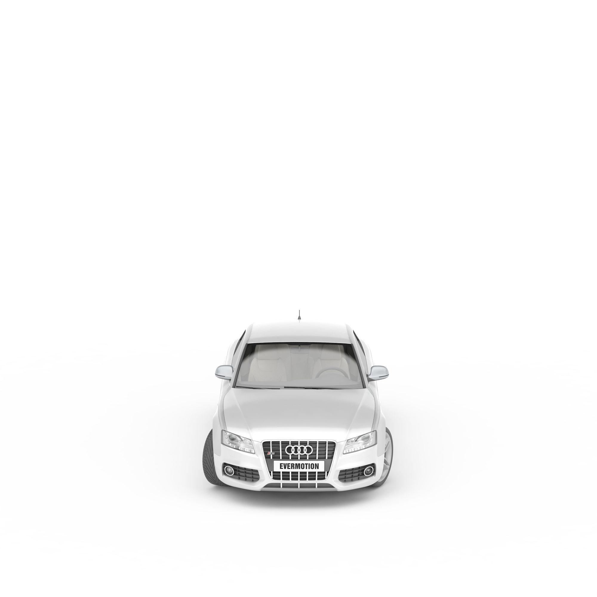 白色奥迪汽车png高清图片下载