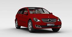 红色奔驰跑车模型3d模型
