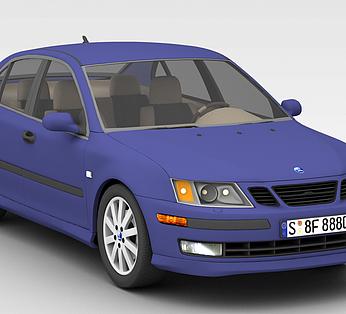 蓝色时尚汽车