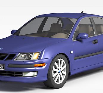 时尚蓝色汽车