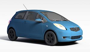 3d藍色豐田汽車模型
