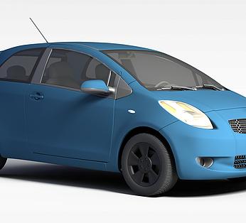 蓝色丰田汽车