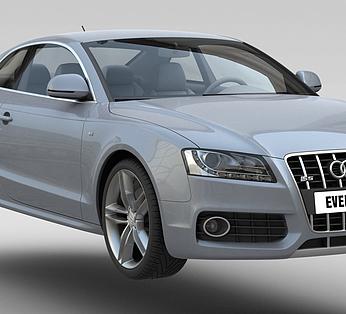 银灰色汽车